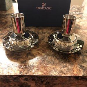 Swarovski crystal Allure Candle Holders (pair)